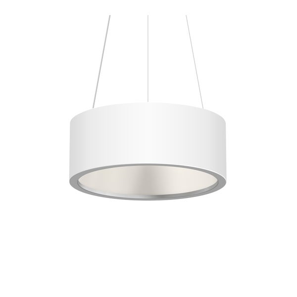 Sonneman Lighting Tromme Satin White 18-inch LED Pendant, Satin White Shade