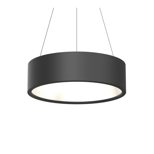 Sonneman Lighting Tromme Satin Black 24-inch LED Pendant, Satin Black Shade