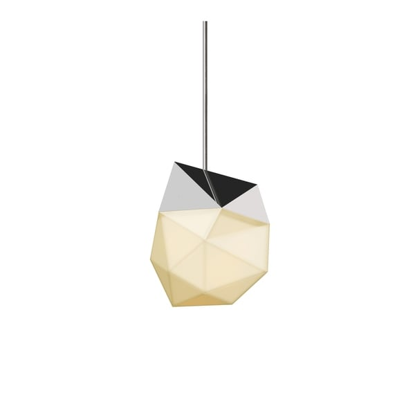 Sonneman Lighting Facets 1-light Polished Chrome Small LED Pendant, White Shade