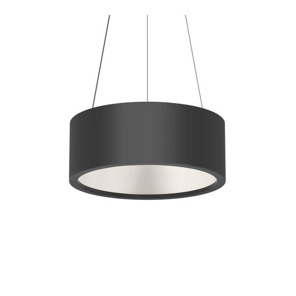 Sonneman Lighting Tromme Satin Black 18-inch LED Pendant, Satin Black Shade