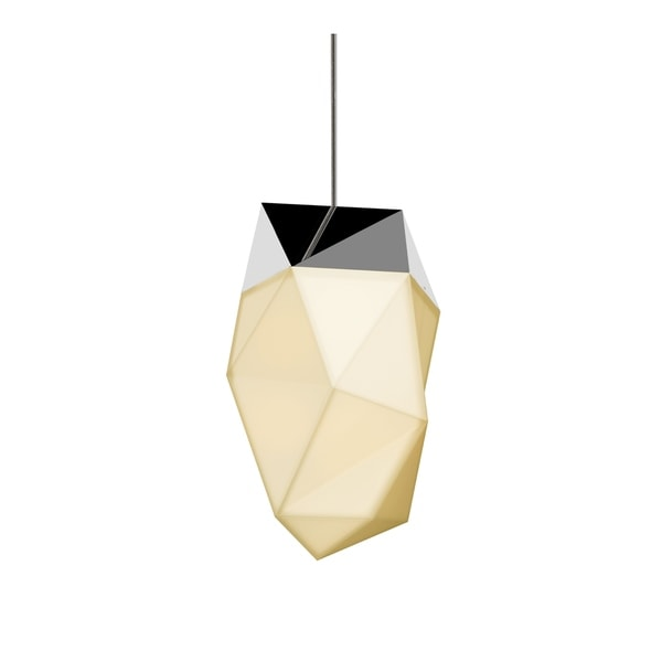 Sonneman Lighting Facets 1-light Polished Chrome Medium LED Pendant, White Shade