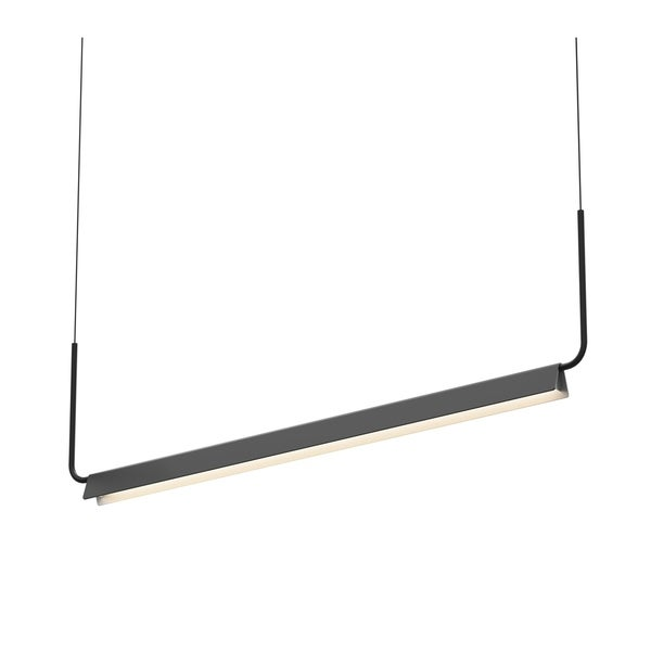 Sonneman Lighting Morii Satin Black 48-inch LED Pendant, Satin Black Shade