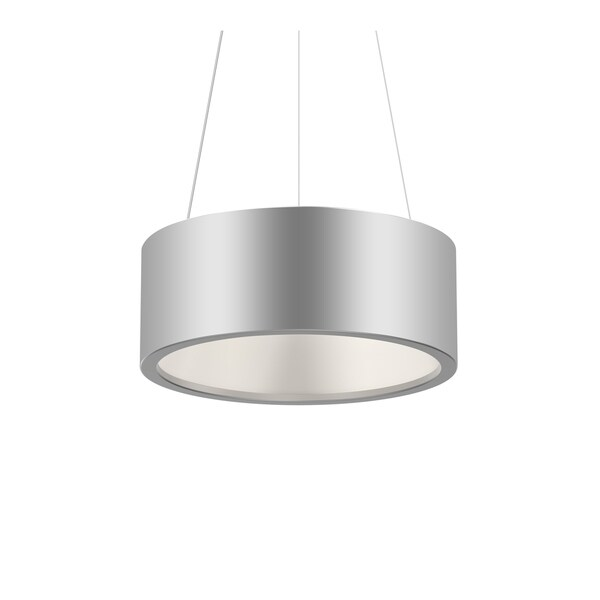 Sonneman Lighting Tromme Bright Satin Aluminum 18-inch LED Pendant, Bright Satin Aluminum Shade