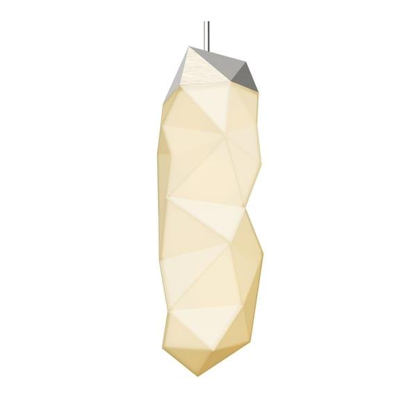 Sonneman Lighting Facets 1-light Satin Nickel Large LED Pendant, White Shade