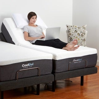 PostureLoft Alese 12-Inch with 2 Twin XL Mattresses with 2 Twin XL Adjustable Bases