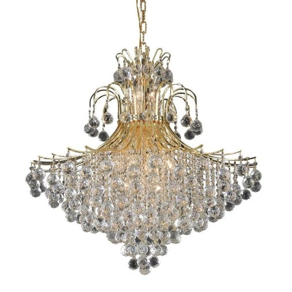 Fleur Illumination 15 light Gold Chandelier