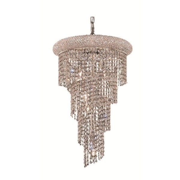 Fleur Illumination 8 light Chrome Pendant