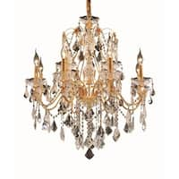 Fleur Illumination 12 light Gold Chandelier