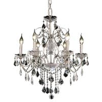 Fleur Illumination 6 light Chrome Chandelier