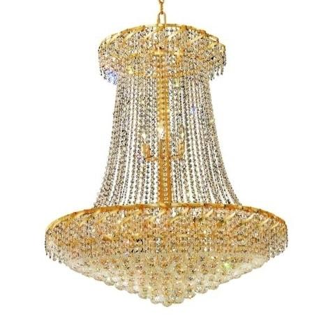 Fleur Illumination 22 light Gold Chandelier