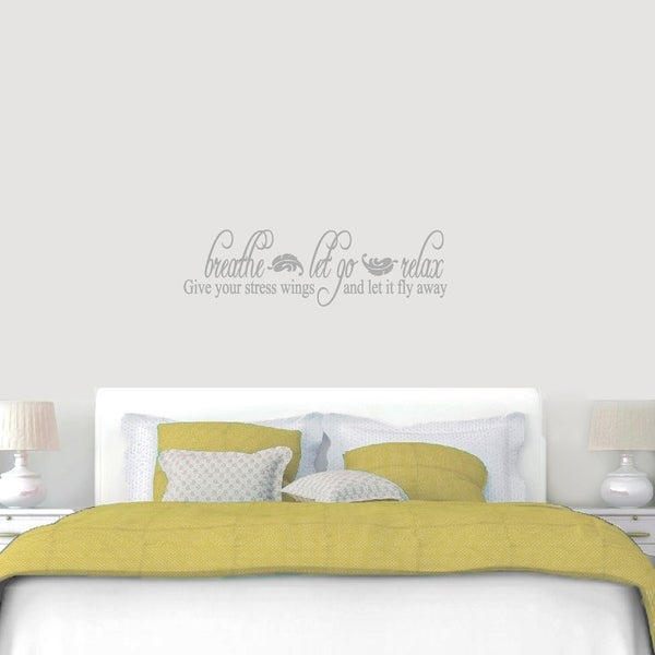 Breathe Let Go Relax Wall Decals Wall Stickers