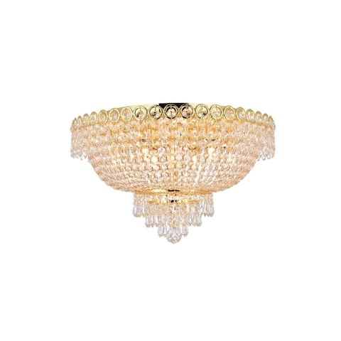 Fleur Illumination 9 light Gold Flush Mount