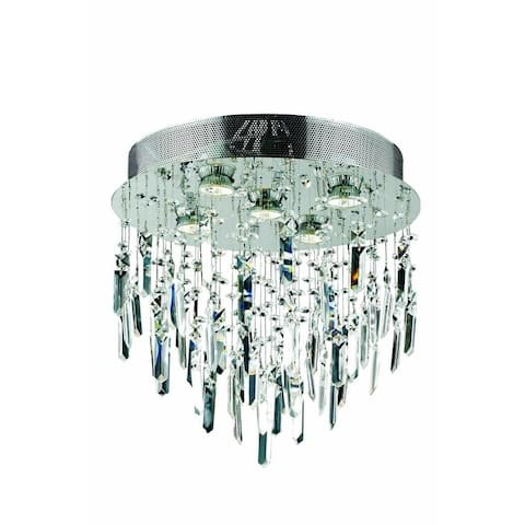 Fleur Illumination 5 light Chrome Flush Mount