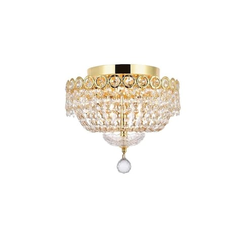 Fleur Illumination 4 light Gold Flush Mount