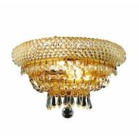 Fleur Illumination 2 light Gold Wall Sconce