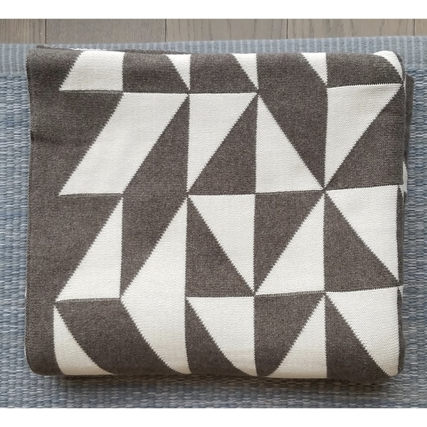 Sveda Geometric Cotton Throw