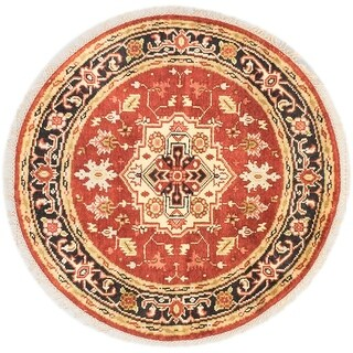 eCarpetGallery Hand-knotted Serapi Heritage Copper Wool Rug (4'0 x 4'0)