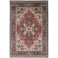 eCarpetGallery  Hand-knotted Royal Heriz Black, Dark Red Wool Rug (6'0 x 8'11)