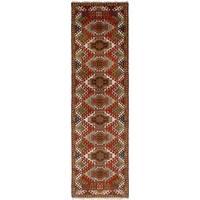 eCarpetGallery  Hand-knotted Royal Kazak Dark Copper Wool Rug (2'8 x 10'0)