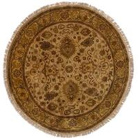 eCarpetGallery  Hand-knotted Sultanabad Cream Wool Rug (6'0 x 6'0)