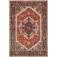 eCarpetGallery  Hand-knotted Serapi Heritage Dark Copper Wool Rug (6'0 x 9'0)