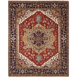 eCarpetGallery Hand-knotted Serapi Heritage Dark Red Wool Rug (8'1 x 10'0)