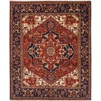 eCarpetGallery  Hand-knotted Serapi Heritage Red Wool Rug (8'1 x 9'10)