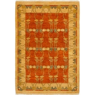 eCarpetGallery  Hand-knotted Chobi Twisted Dark Copper Wool Rug (4'1 x 5'10)