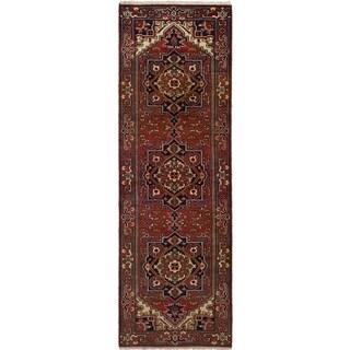 eCarpetGallery  Hand-knotted Serapi Heritage Dark Copper Wool Rug (2'7 x 7'11)