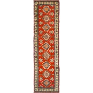 eCarpetGallery  Hand-knotted Finest Gazni Red Wool Rug (2'8 x 10'0)