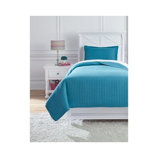 Signature Design by Ashley Raleda Turquoise 3-piece Quilt Set