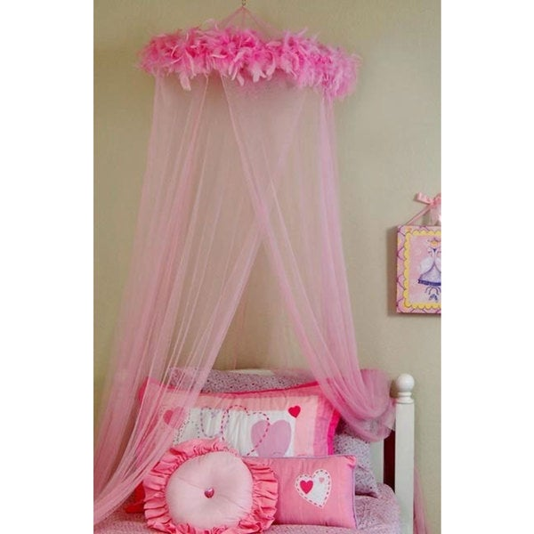 Feather Boa Mosquito Net Canopy  sc 1 st  Overstock.com & Feather Boa Mosquito Net Canopy - Free Shipping On Orders Over $45 ...