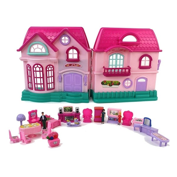 Shop My Sweet Happy Family House Toy Dollhouse Playset Free