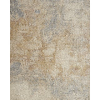 """Alexander Home Distressed Abstract Beige/ Grey Mosaic Rug - 7'10"""" x 10'"""