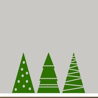 Christmas Tree Set Wall Decals Wall Stickers