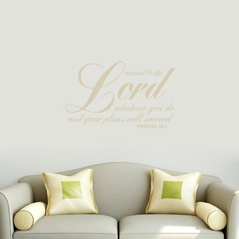 Commit To The Lord Wall Decals Wall Stickers