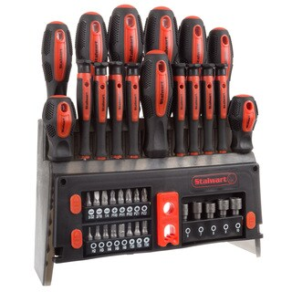 39 Piece Screwdriver and Bit Set with Magnetic Tips- by Stalwart