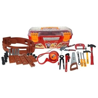 Power Tools Toy Toolbox & Tools Set