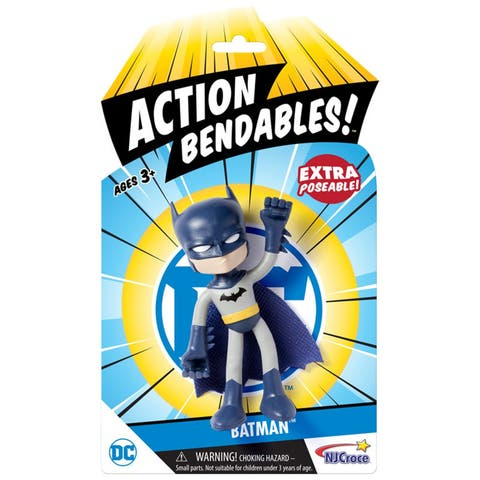 "NJ Croce DC Comics ACTION BENDALBES! - 4"" Batman Action Figure"