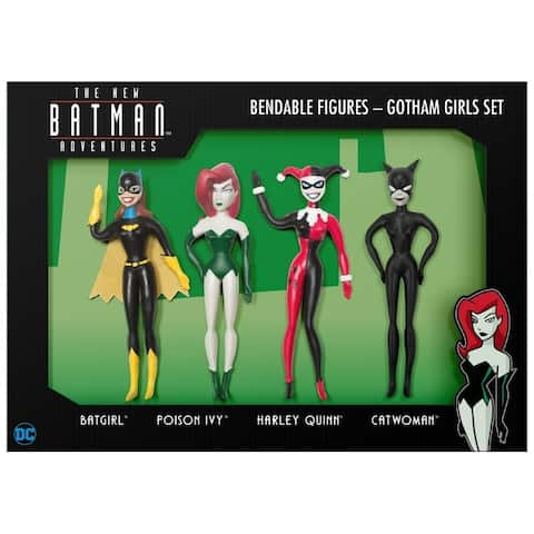 NJ Croce DC Comics The New Batman Adaventures Gotham Girls Boxed Set - Batgirl, Poison Ivy, Harley Quinn, Catwoman