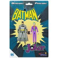 """NJ Croce DC Comics Batman & The Joker Action Figure 3"""" Bendable Pair"""