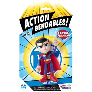 "NJ Croce DC Comics ACTION BENDALBES! - 4"" Superman Action Figure"