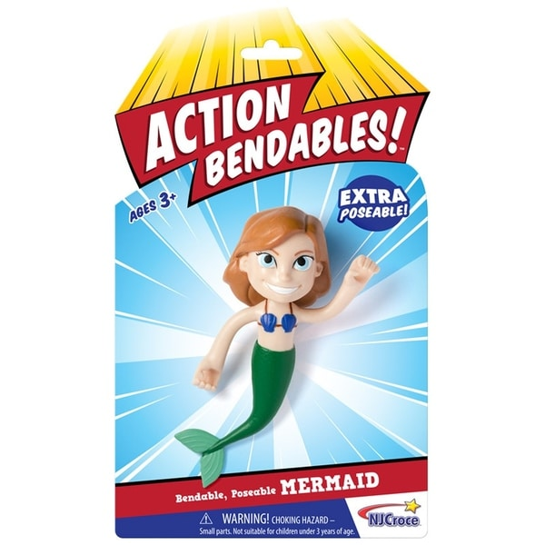 "NJ Croce ACTION BENDALBES! - 4"" Mermaid Action Figure 34270282"