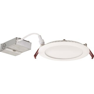 Lithonia Lighting 14.4W Ultra Thin 6 Inch Round Dimmable Recessed Ceiling Light 5000K, Day White in White