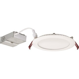 Lithonia Lighting 13.4W Ultra Thin 6 Inch Round Dimmable Recessed Ceiling Light 3500K, Bright White in White