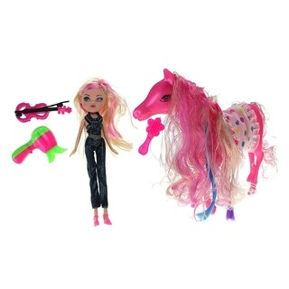 My Lovely Magic Horse & Me Toy Doll & Pony Playset