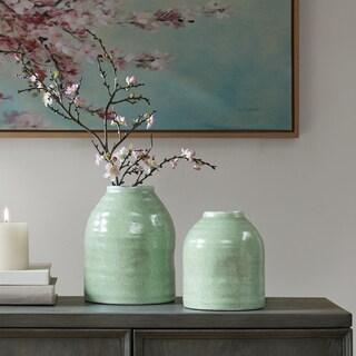 Madison Park Diablo Teal Ceramic Vase- Small