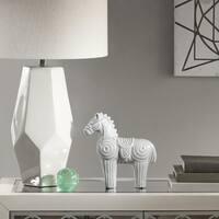 Madison Park Regal Grey Horse Ceramic Decor