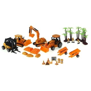 Super Power Century Construction Toy Die Cast Car Play Set
