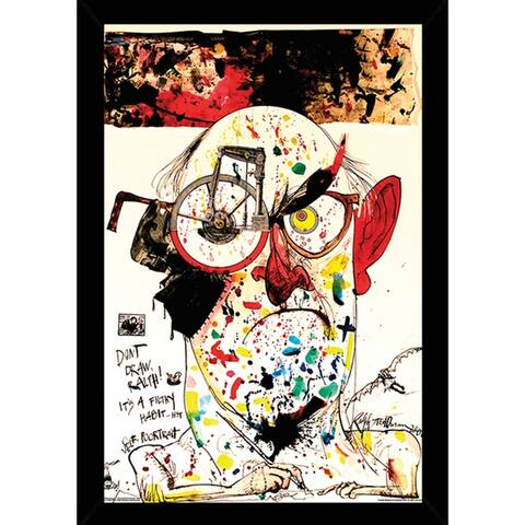 Ralph Steadman - Self Poortrait Poster With Choice of Frame (24x34)